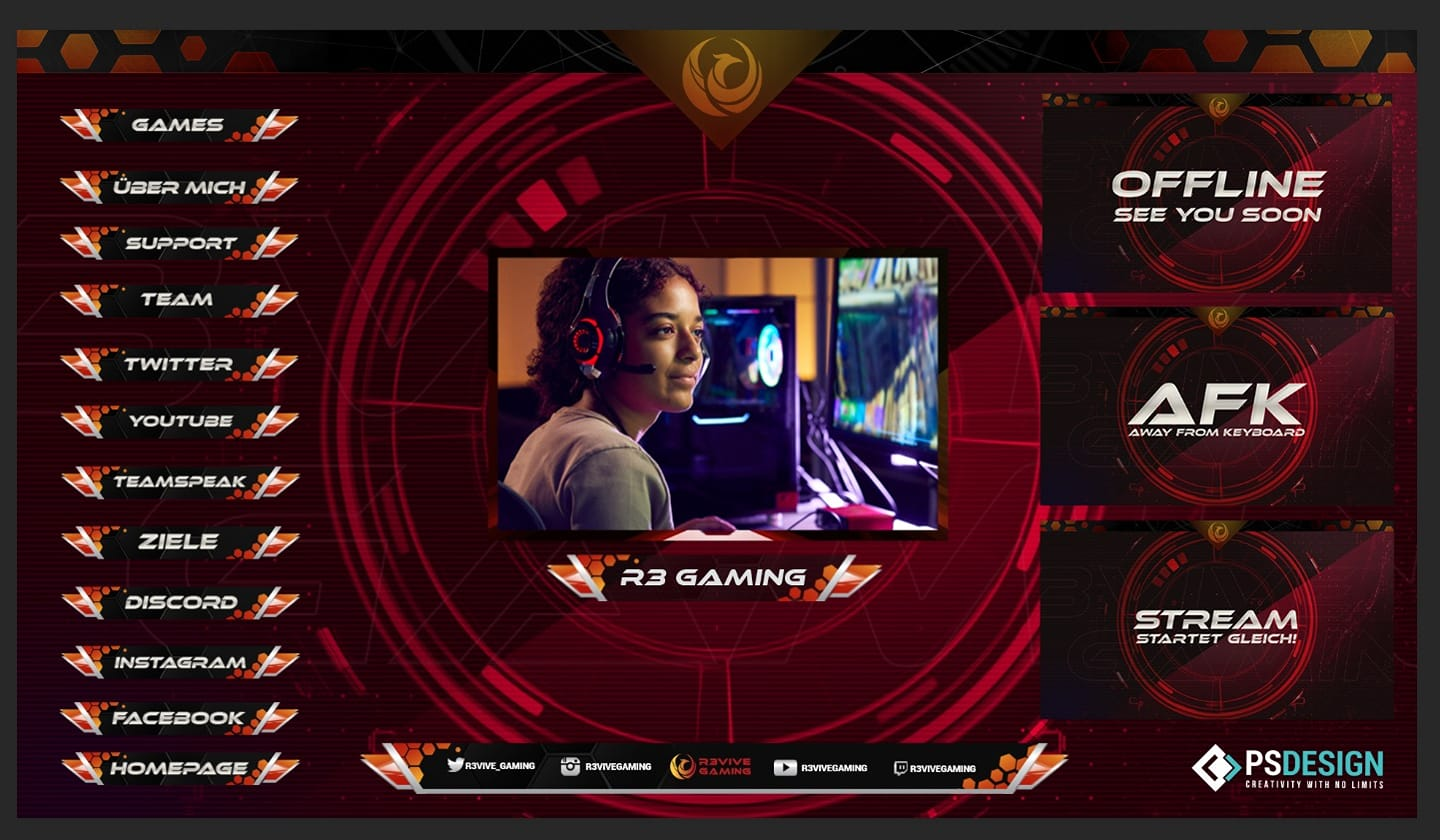 94653219 135135241432599 2187552707869409280 o » Streamer » Gaming Homepage » Logo Design