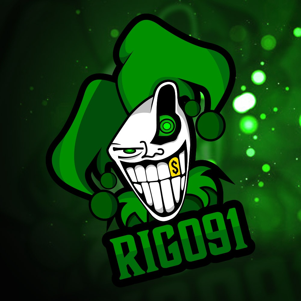 Logo Mockup rigo 1 » Streamer » Gaming Homepage » Logo Design