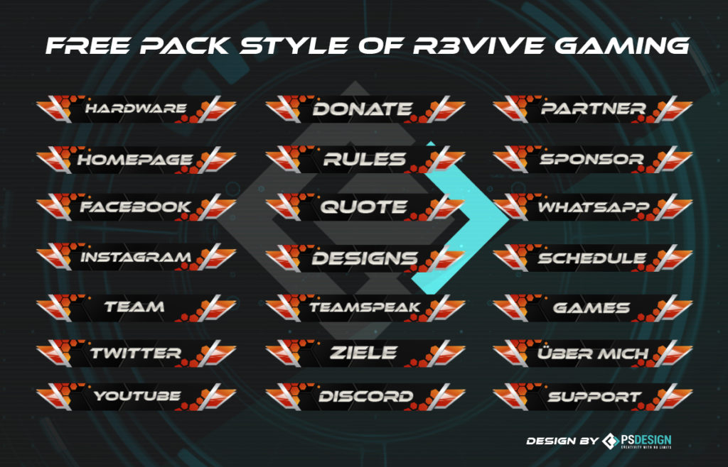 r3 pack » Streamer » Gaming Homepage » Logo Design